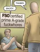 Grade-A fuckwhore gets fucked by a bald dude.Slave Fair Year Three By