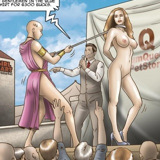 Busty blonde queen forced to suck a pig - BDSM Art Collection - Pic 1