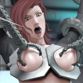 Mechanical claws almost ripping her - BDSM Art Collection - Pic 3