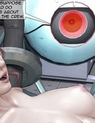 Redhead gets impregnated with alien seed at last.The Alien Invasion By