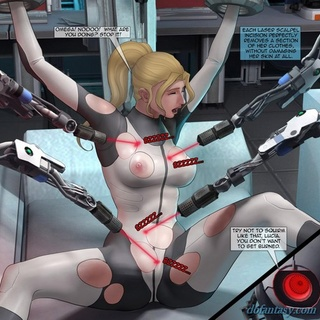 Laser burn off this hot blonde's - BDSM Art Collection - Pic 2