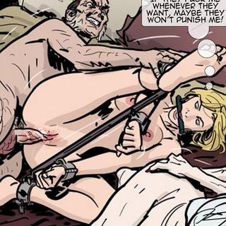 Black guy violently raping a brunette - BDSM Art Collection - Pic 4