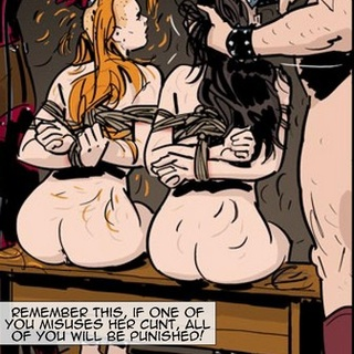 Redhead and her slave pals getting - BDSM Art Collection - Pic 3