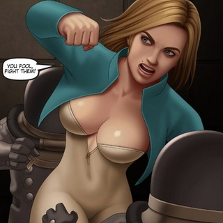 Busty space blonde kicking the shit - BDSM Art Collection - Pic 4