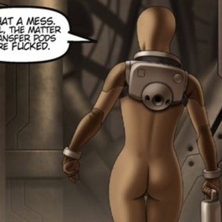 Busty babe tries to hack the mainframe - BDSM Art Collection - Pic 1