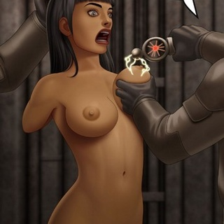 Tanned brunette with bangs tortured by - BDSM Art Collection - Pic 2