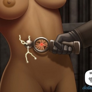 Tanned brunette with bangs tortured by - BDSM Art Collection - Pic 4
