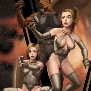 Big black action hero posing with - BDSM Art Collection - Pic 3