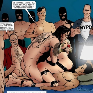 Hung guys running train on a helpless - BDSM Art Collection - Pic 3