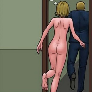 Blonde with a butt-plug running away - BDSM Art Collection - Pic 3