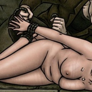 Blonde left crying and helpless on the - BDSM Art Collection - Pic 4