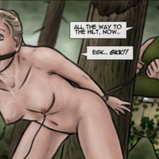 Blonde jogger gets violated with a tree - BDSM Art Collection - Pic 4