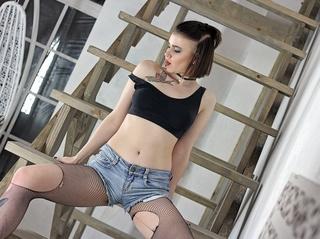 blancas jovencita negras cabello
