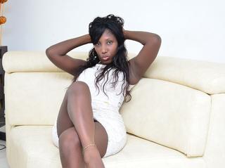 ebony girl long hair