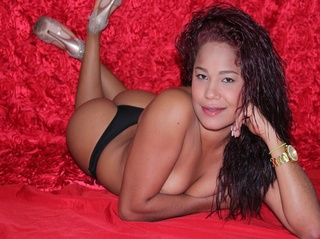 latin girl fire red