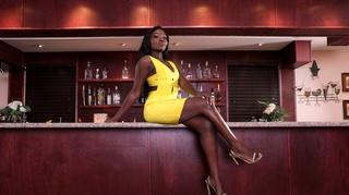 ebony gal yellow dress