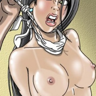 Ballgagged and busty sex slaves in - BDSM Art Collection - Pic 4