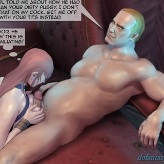Brunette in blue gives her master a - BDSM Art Collection - Pic 3
