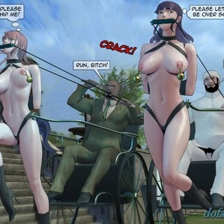 Slave girls with chariots and some - BDSM Art Collection - Pic 1