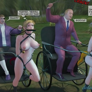 Slave girls with chariots and some - BDSM Art Collection - Pic 2