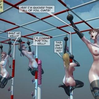 Brutal torture for busty slave girl - BDSM Art Collection - Pic 2