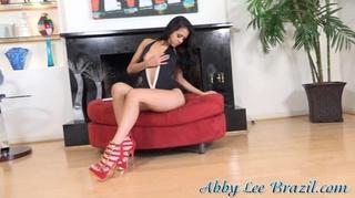 red high heels black