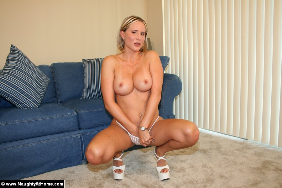 Hot busty blonde wife in long white gown ge - XXX Dessert - Picture 11