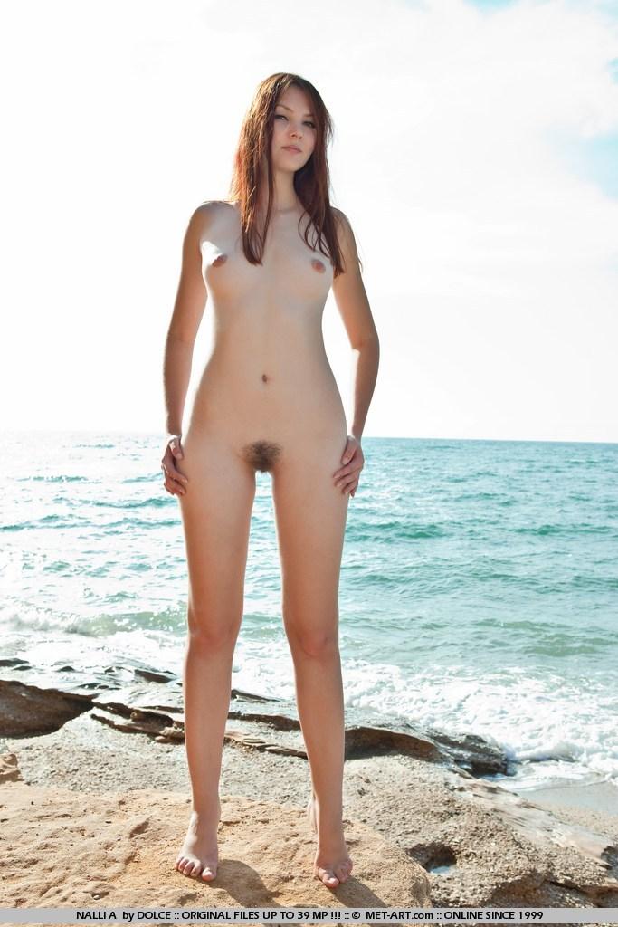 Naked female beach models
