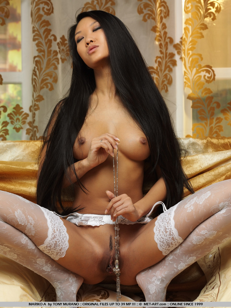 hair long Nude asian women with