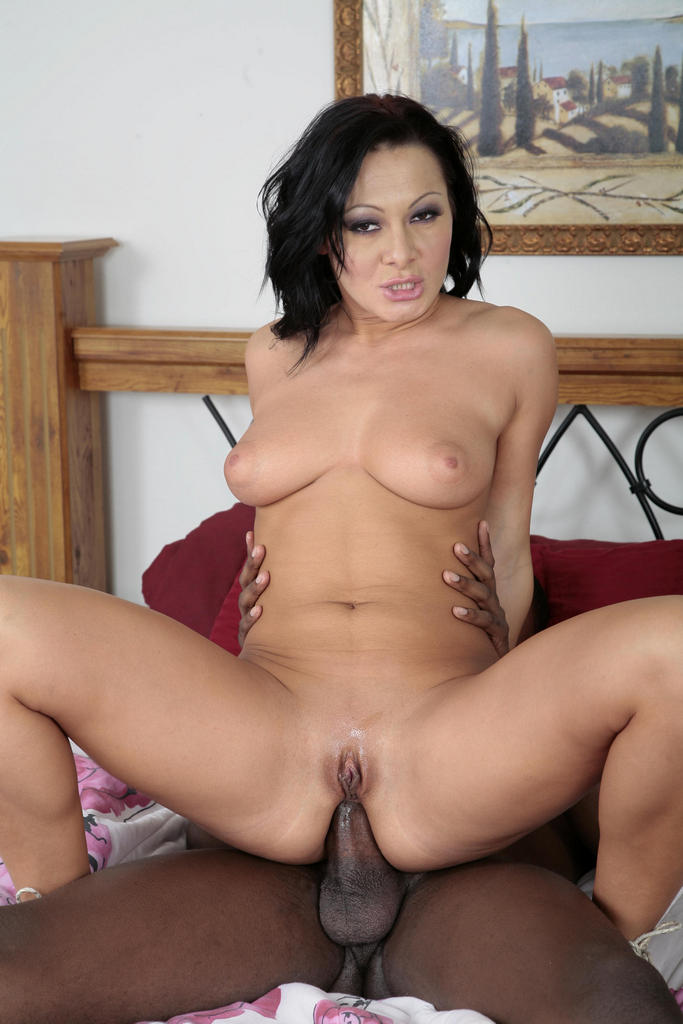 Milf with shaved pussy riding cock