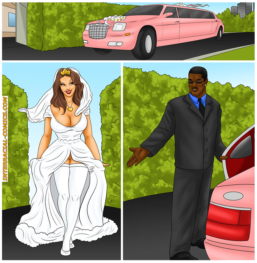 Stunning brunette bride consummates her marriage on a pink limousine -  CartoonTube.XXX