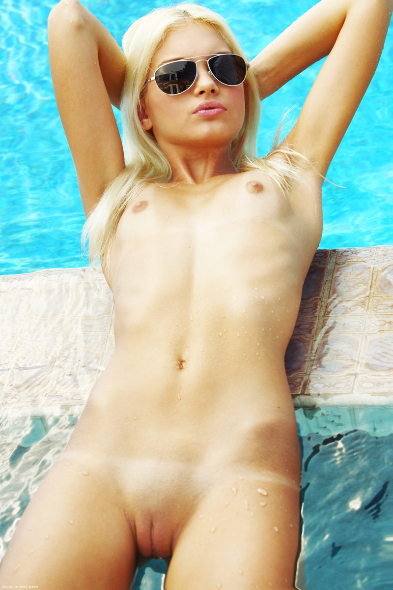 Swimming milf nude smoking
