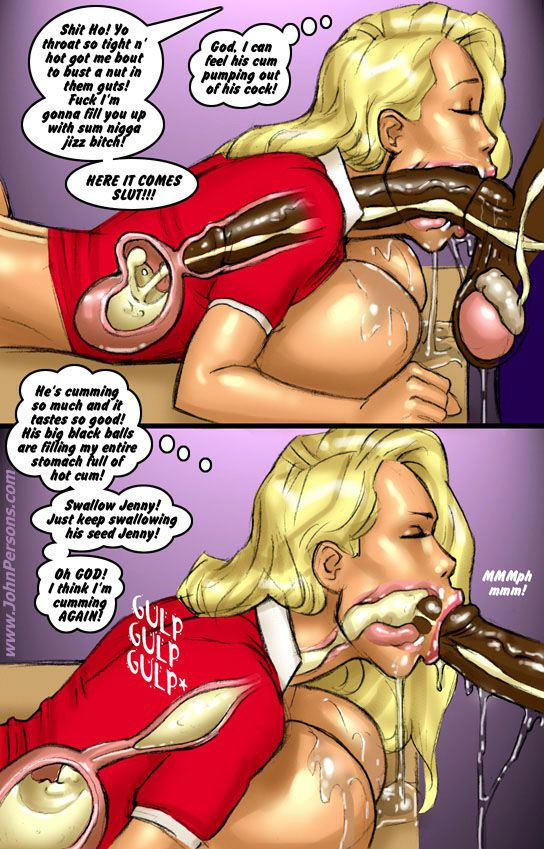 Hot Blonde Sucks Big Black Cock Deep Throat And Gets Lots Of Cum To Fill Throat Cartoontube Xxx