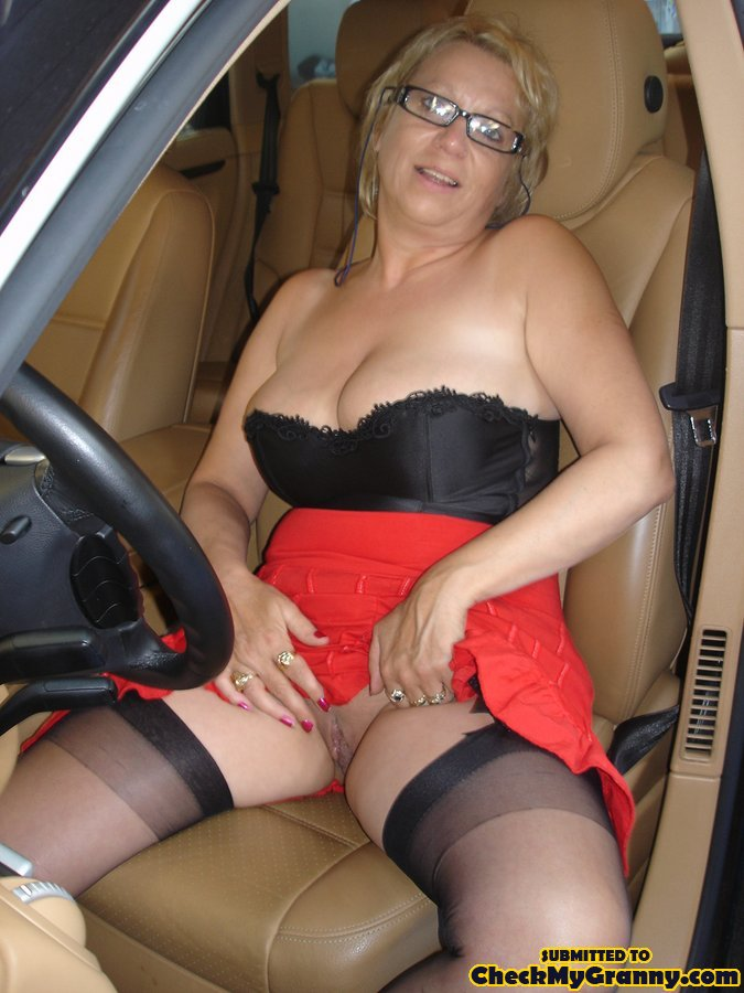 Blonde Granny In Black Lingerie Slowly Gett - Xxx Dessert - Picture 3-3846