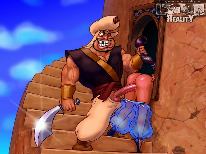 Big Dick Girl Fucks Monkey - Princess jasmine gets fucked by monkey with banana and lucky guard with big  dick - CartoonTube.XXX