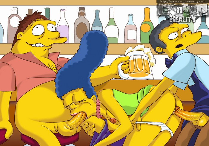 Nasty Marge Simpson participate in hot - Cartoon Sex - Picture 1