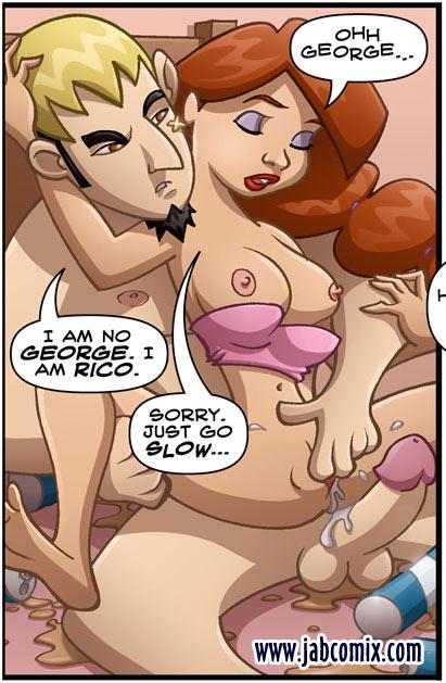 Adult Comics Blonde Teen Gets Mouthful - Silver Cartoon -4448