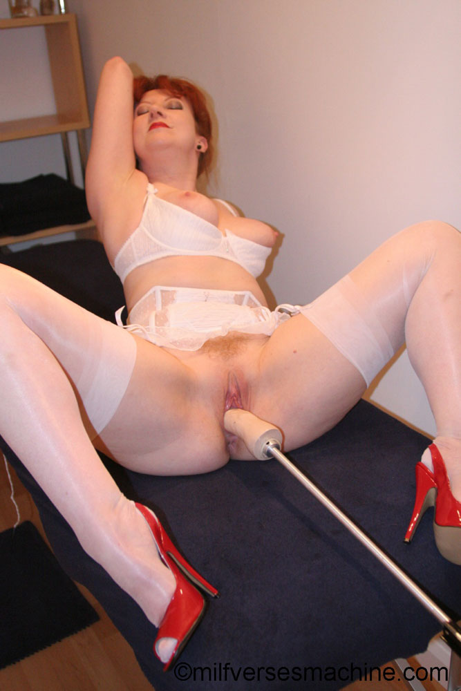 Red bitch in red shoes and white lingerie e - XXX Dessert - Picture 7