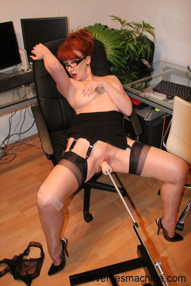 Red secretary in glasses and sexy lingerie  - XXX Dessert - Picture 5