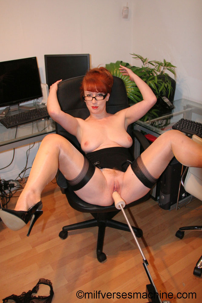 Red secretary in glasses and sexy lingerie  - XXX Dessert - Picture 8