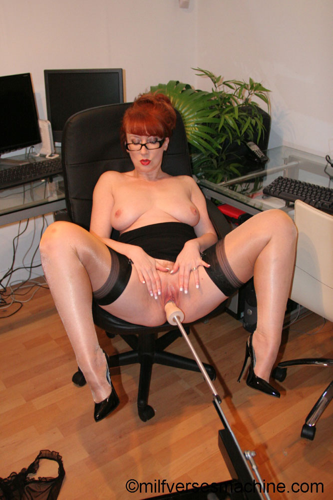 Red secretary in glasses and sexy lingerie  - XXX Dessert - Picture 10