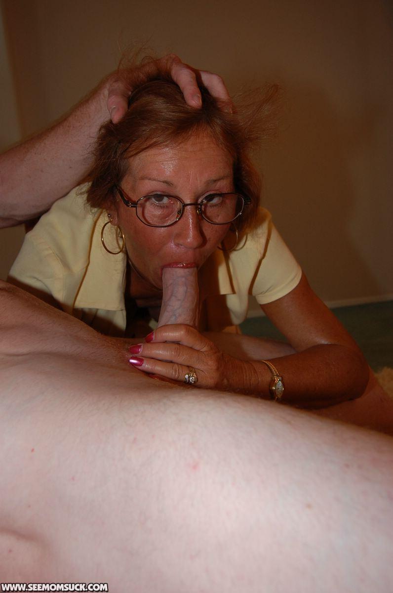 Mom sucks real sons cock