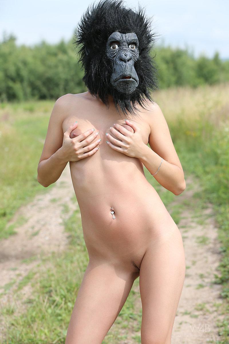 Naked very skinny white girl