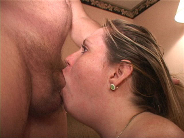 Girl gaging on cock