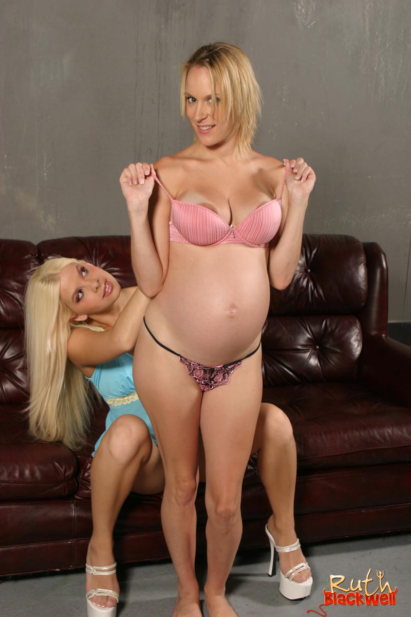blonde slut and her pregnant friend having fn with black - xxx dessert