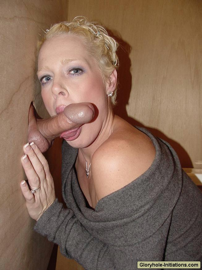 Blonde milf blowjob with facial