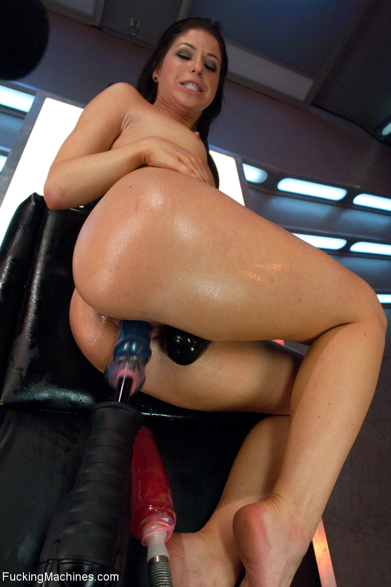 Sexy brunette bitch gets her tits pumped an - XXX Dessert - Picture 11