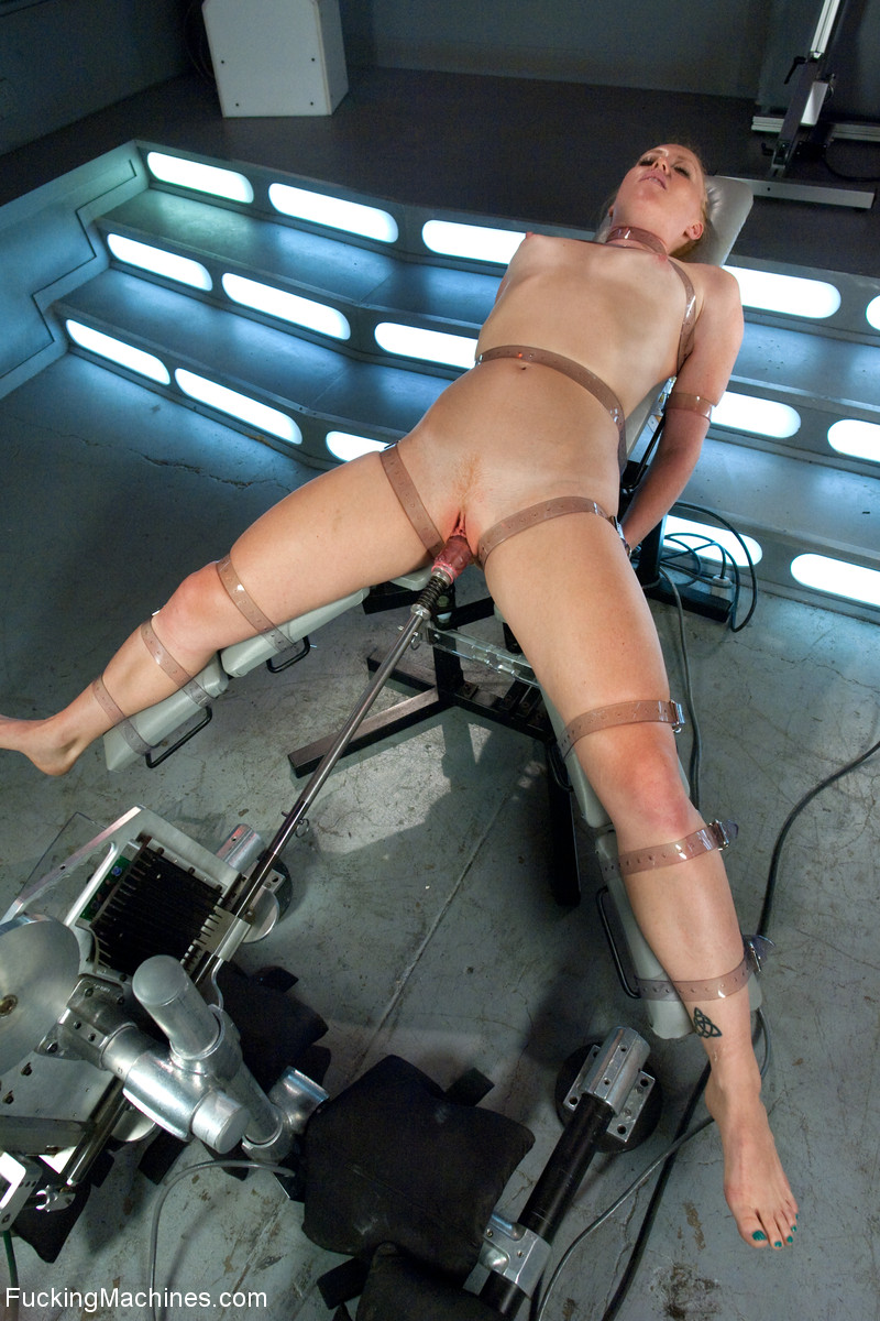 Ponytailed Chick Roped To A Fucking Machine - Xxx Dessert -3435