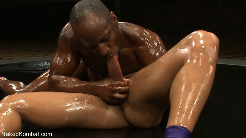 Black Guy Covered In Oil Suck Cock And Fuck - Xxx Dessert -7500