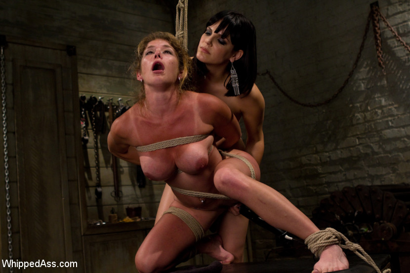 Sexy girls get painfully tied and bent over - XXX Dessert - Picture 9